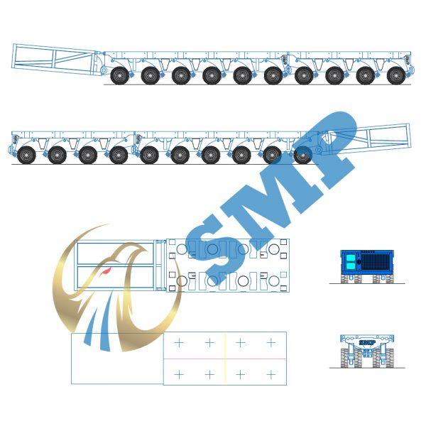 SPMT 600x600 - Scheuerle SPMT AutoCAD drawing